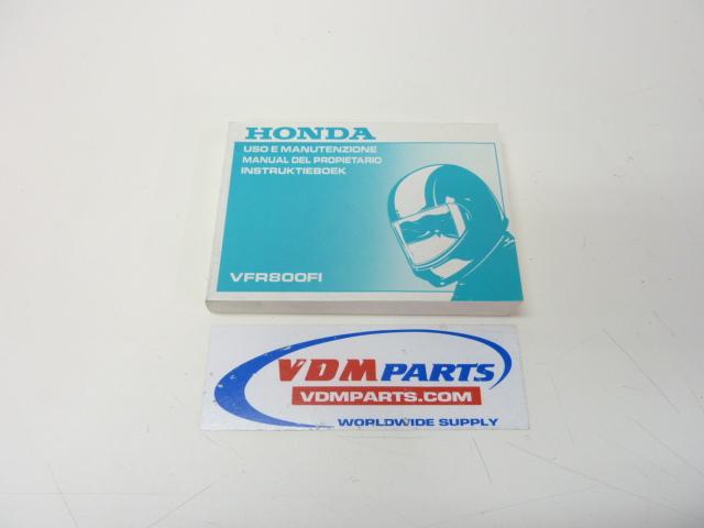 Honda Vfr Owners Manual